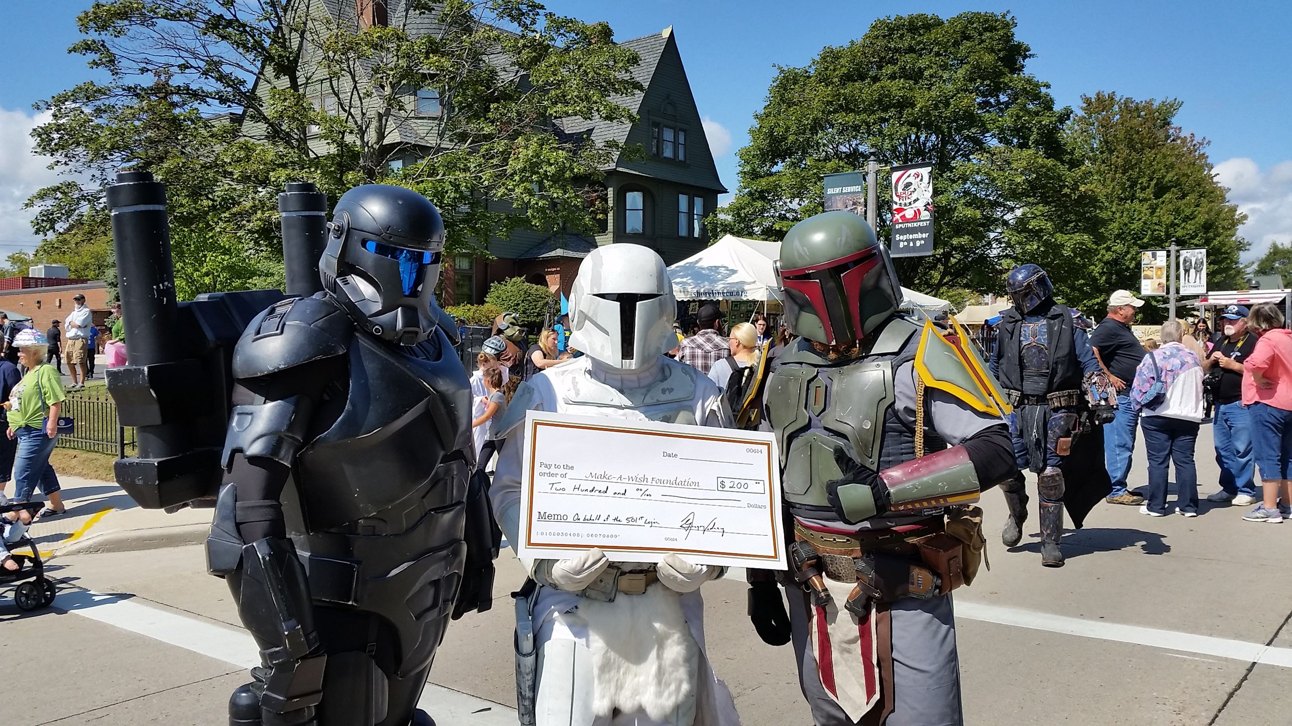 501st with make a wish check 2017