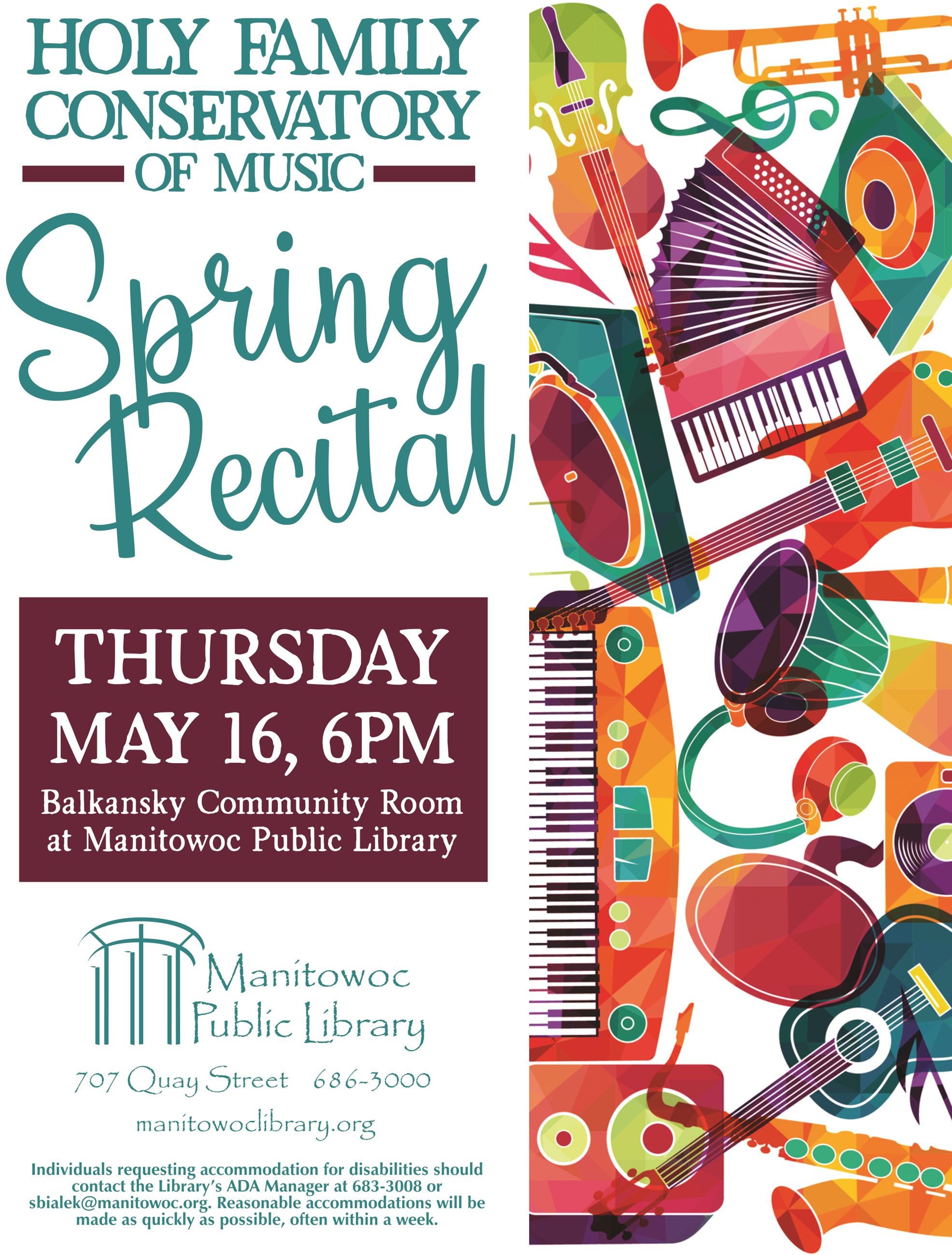 HFM Spring Recital Sign