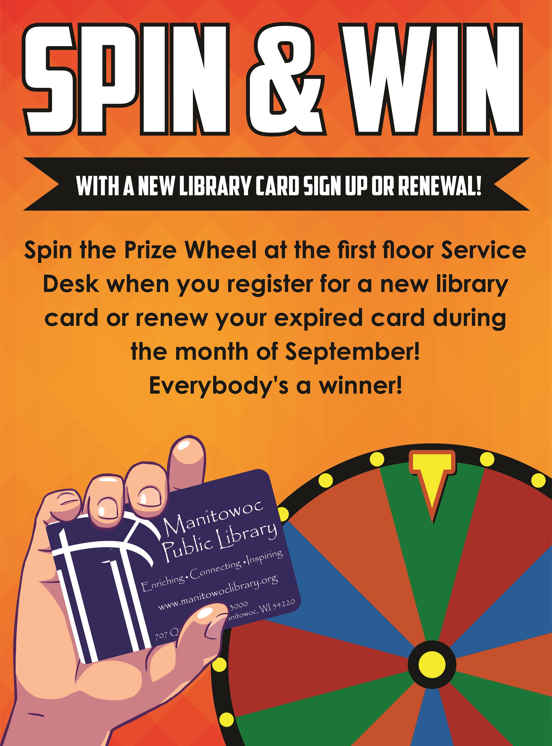 Spin to Win Poster September