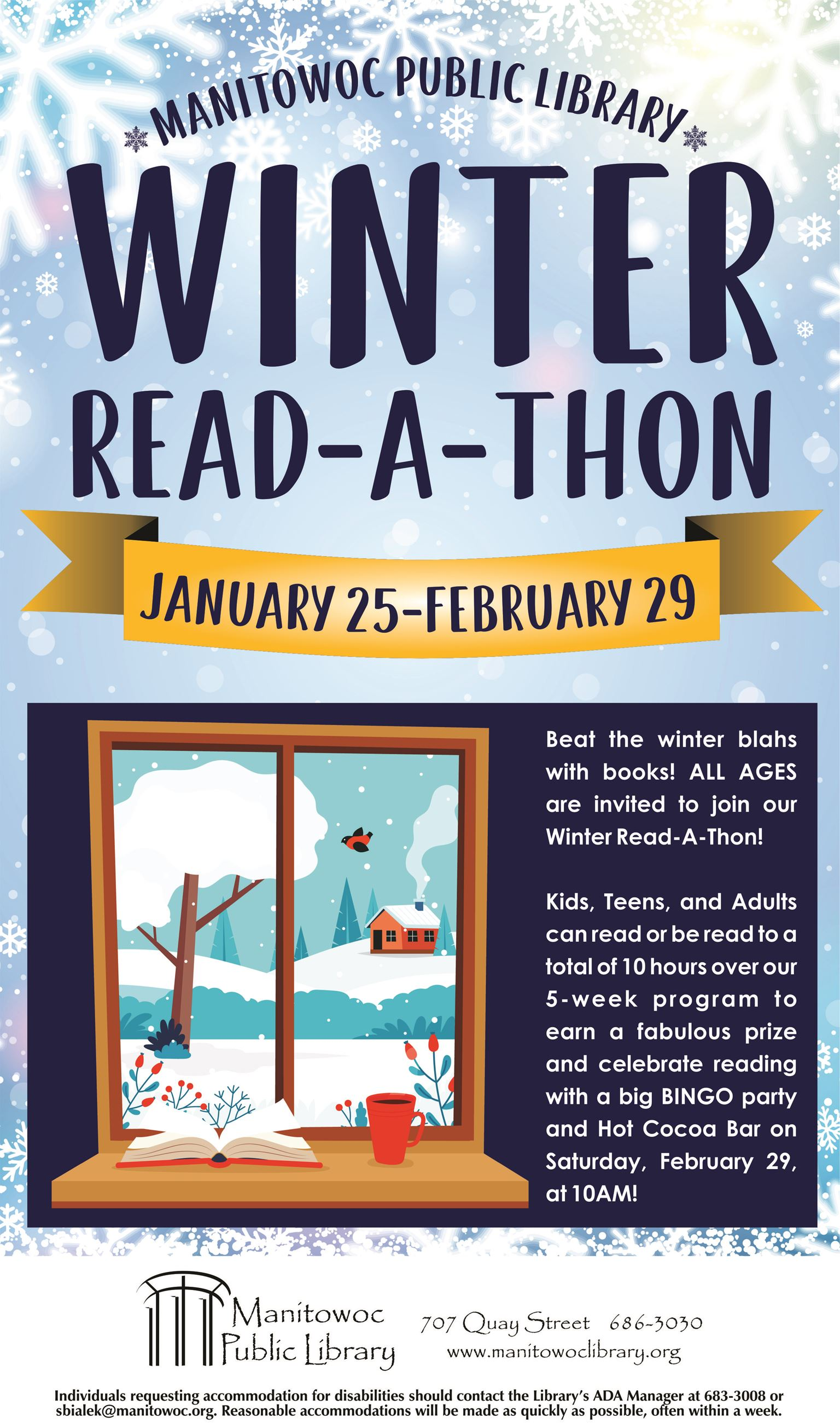 Winter Read-A-Thon Poster