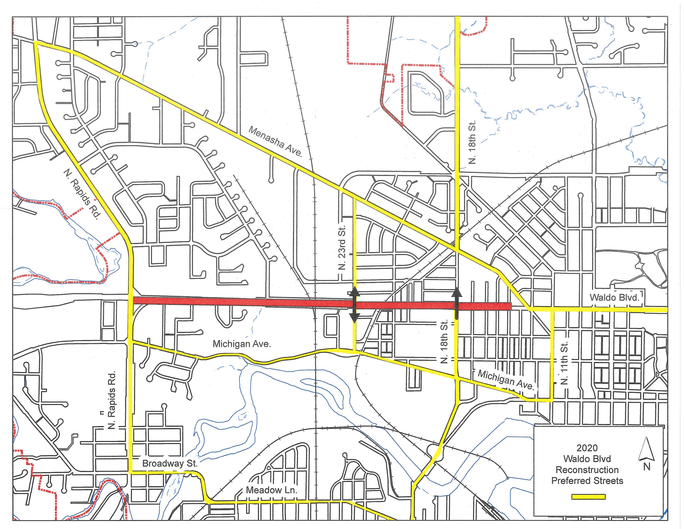Waldo Blvd Preferred Routes