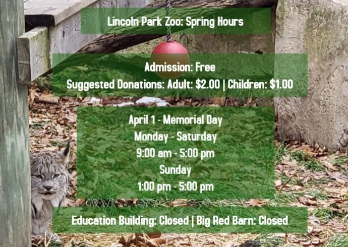 Zoo Spring Hours