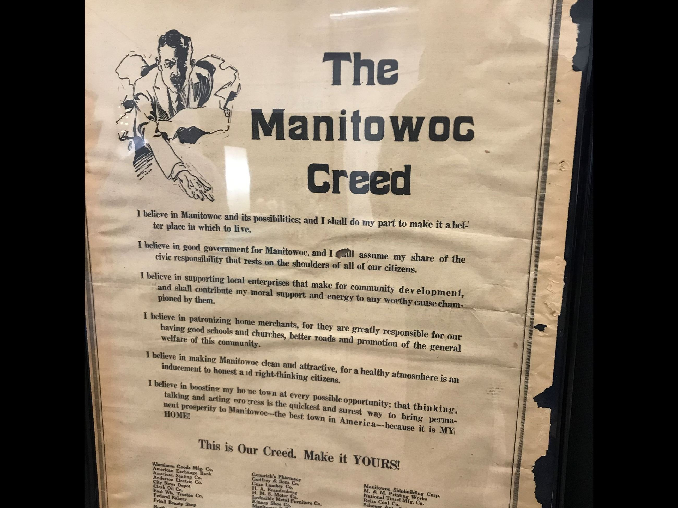 Manitowoc Creed - Old