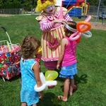 Balloon Clown at Easter Egg Hunt