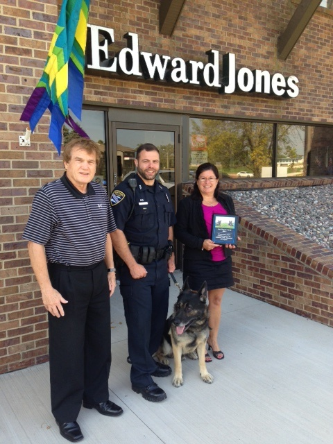 Edward Jones K9 Plaque Presentation