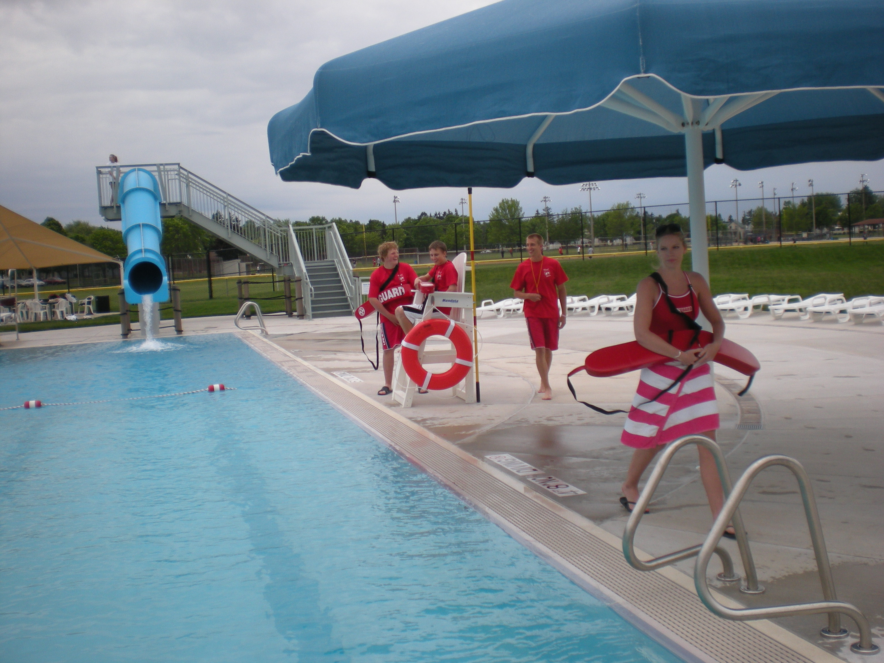 Lifeguards at Family Aquatic Center