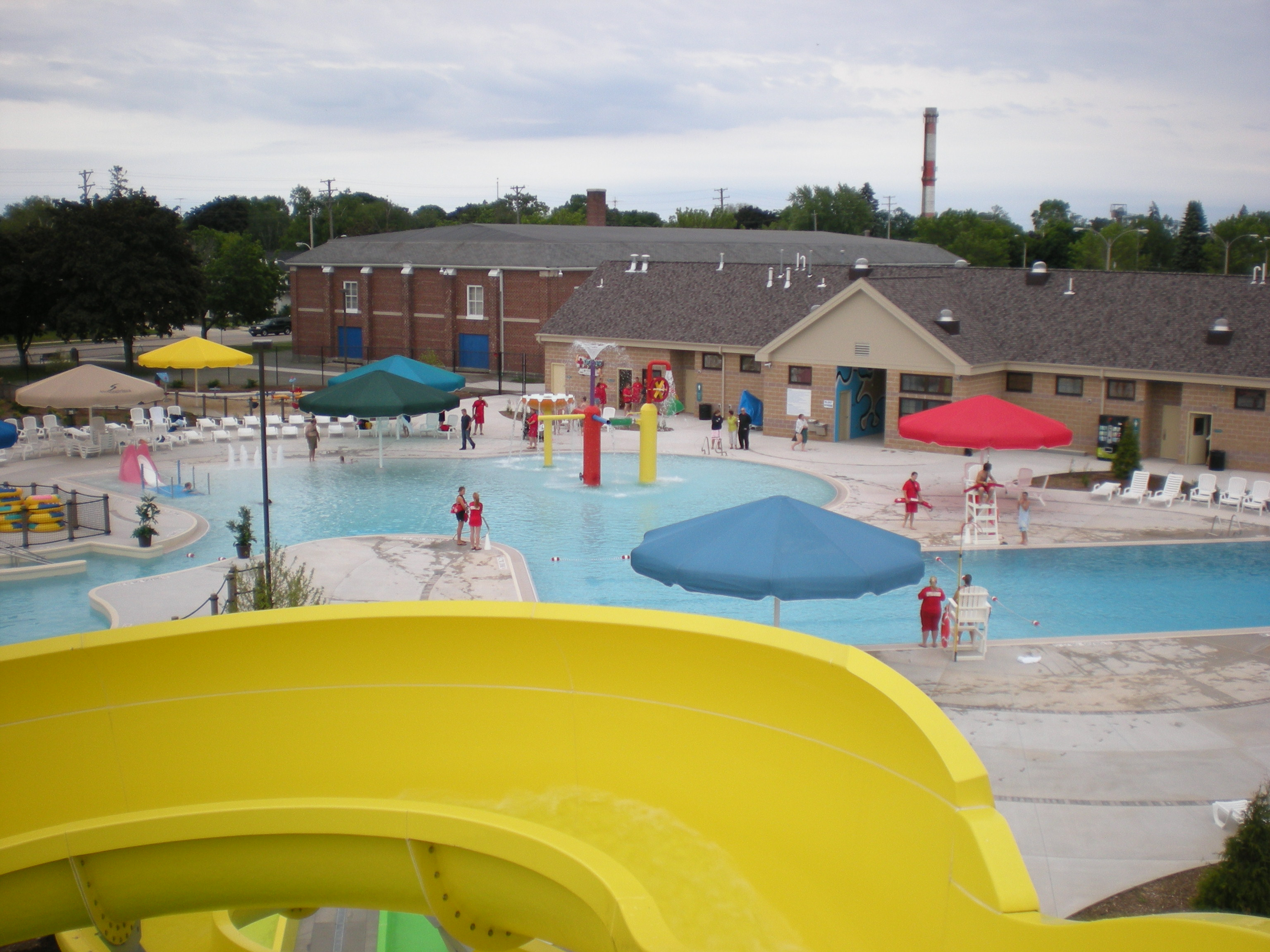Aquatic Center View from Extreme Slide