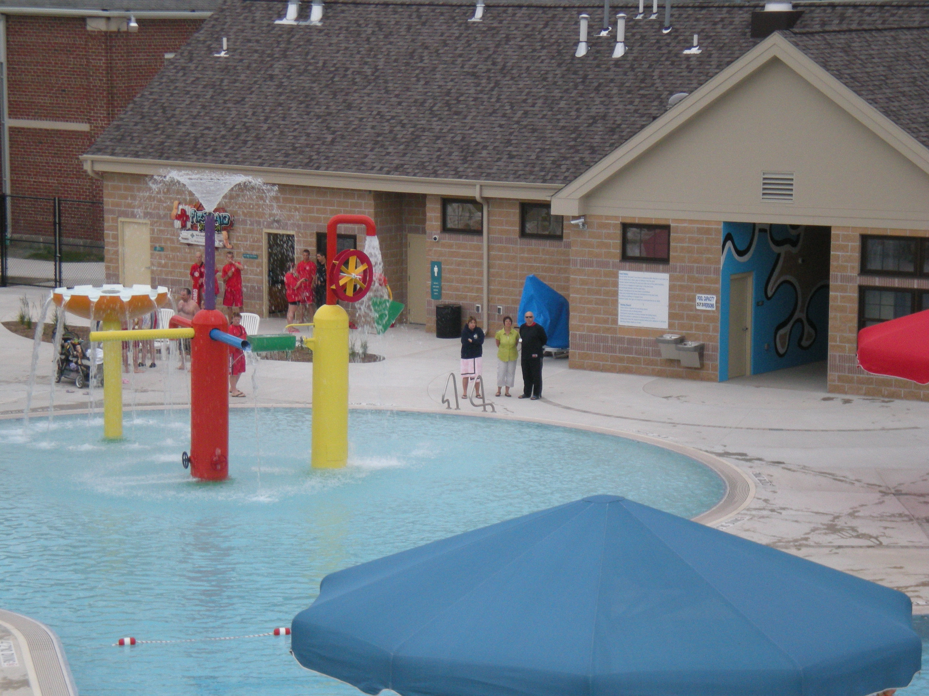 Family Aquatic Center Zero Depth Area View